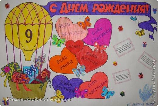 Плакат сестре на день рождения своими руками