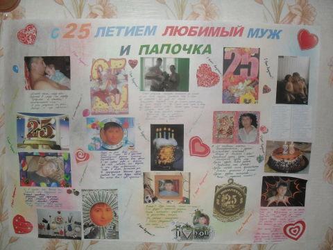 Плакат с фотографиями на день рождения папе